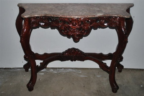 Marble Mahogany Table