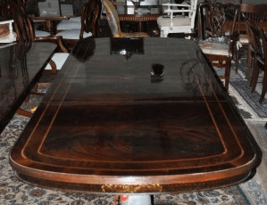 Maitland Smith Large Formal Flaming Mahogany Dining Table for sale!